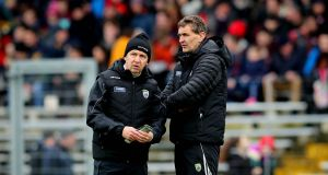 "Kerry manager Peter Keane with selector Maurice Fitzgerald. ""I don't see managing expectations as being anywhere in my role or brief,"" says Keane.  Photograph: Ryan Byrne/Inpho"