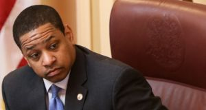 Justin Fairfax said in a statement that he would not resign from office and vowed to clear his name. Photograph: Logan Cyrus/Getty Images/AFP