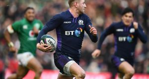 Finn Russell was Scotland's best player in their nine point defeat to Ireland. Photograph: Stu Forster/Getty Images