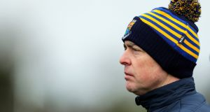Longford manager Padraig Davis watched his team beat Carlow on Sunday. Photograph: Laszlo Geczo/Inpho