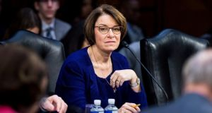 Senator Amy Klobuchar has announced a run for the Democratic nomination for US president. Photograph: Pete Marovich/New York Times