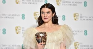 Rachel Weisz with her award for Best Supporting Actress in 'The Favourite' at the 72nd annual Baftas. Photograph: EPA