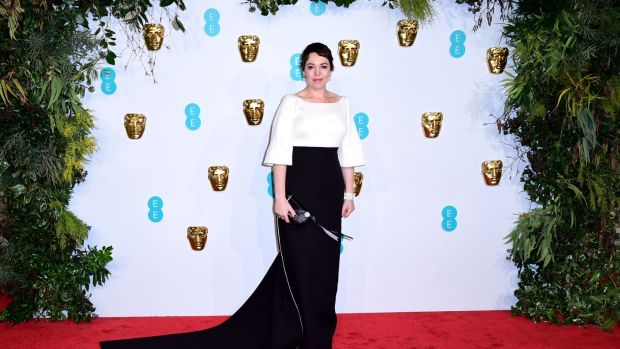 Olivia Colman, best actress winner for The Favourite. Photograph: Ian West/PA