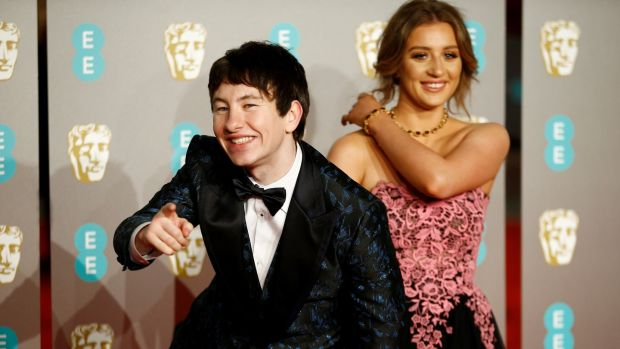 Barry Keoghan and guest. Photograph: Henry Nicholls/Reuters