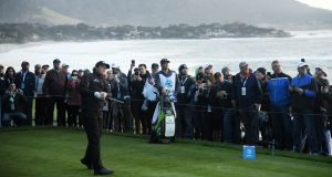 Phil Mickelson of the United States during the final round of the AT&T Pebble Beach Pro-Am. Photograph: Harry How/Getty Images