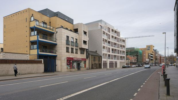 The site at 75-78 Cork Street has permission for a seven-storey complex. Photograph: Enda Cavanagh