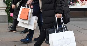 Sales in the final quarter of 2018 demonstrated the slow but steady growth of retail in recent years, said Retail Ireland. Photograph: PA