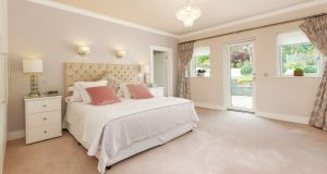 Main bedroom at 25 Mather Road South, Mount Merrion, Co Dublin