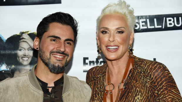 Brigitte Nielsen and husband Mattia Dessi. (Photo by Amanda Edwards/ WireImage)