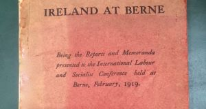 "Thomas Johnson and Cathal O'Shannon were the Irish representatives at a tense ""International Labour and Socialist Conference"" in Berne on February 12th, 1919"