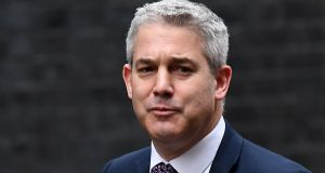 The UK Brexit secretary  Stephen Barclay and the chief European Union negotiator Michel Barnier met for dinner in Brussels on Monday night. File image: Andy Rain/EPA.