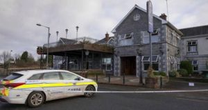 Shannon Key West hotel in Rooskey on the Leitrim-Roscommon border, after it had been  damaged by fire a month ago, on January 10th. File photograph: Brian Farrell