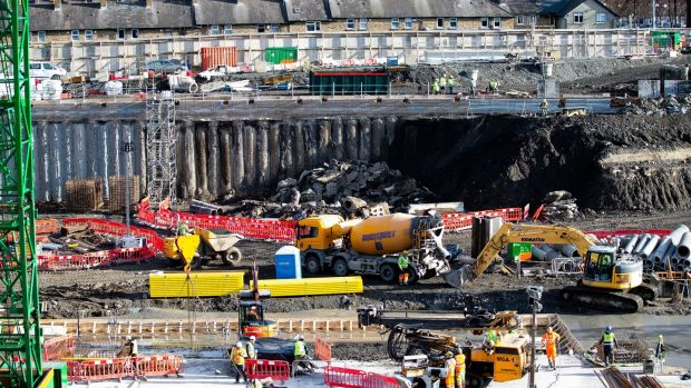 A view of the construction site of the national children's hospital.Photograph: Tom Honan/The Irish Times