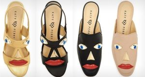 Blackface accusations: Ora Face block-heel sandals and  Rue slip-on loafers. Photograph: Katy Perry Collections