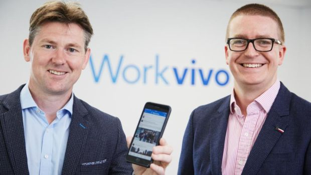 Workvivo CEO and co-founder John Goulding, (left) and CTO and co-founder Joe Lennon (right). Picture: Miki Barlok