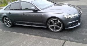 An Audi A6 seized by the Criminal Assets Bureau on Tuesday. Photograph: Garda Press Office