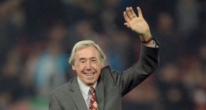 At the age of 34 Gordon Banks featured in Stoke's 1972 League Cup final win against Chelsea – still the club's only major honour – and in the same season he was voted Player of the Year in England. Photograph: Oli Scarff/AFP