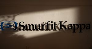 Anticipation that cardboard box maker Smurfit Kappa will have good news when it publishes 2018 results on Wednesday pushed its stock up by 1.66 per cent to €25.72.  Photograph: Jason Alden/Bloomberg