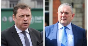 Barry Cowen (left), the spokesman on public expenditure, and John McGuinness (right), the outspoken deputy for Carlow-Kilkenny, clashed in front of colleagues at the weekly Fianna Fáil parliamentary party meeting. File photographs: The Irish Times