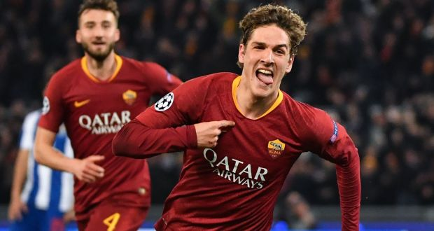 Image result for Nicolo Zaniolo score Champions League Porto