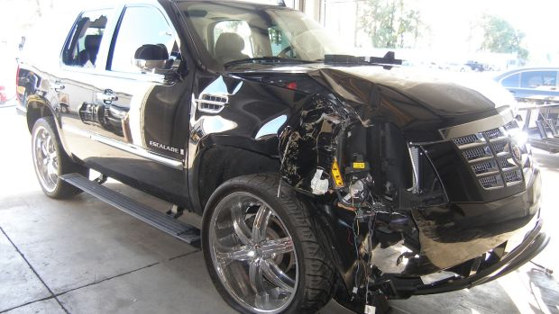 The SUV which Woods crashed on the November 2009 night when his multiple affairs were exposed. Photo: Florida Highway Patrol via Getty Images