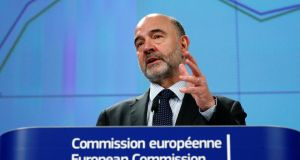 European Commissioner for Economic and Financial Affairs Pierre Moscovici presents the EU executive's economic forecasts during a news conference at the EU Commission headquarters in Brussels, Belgium February 7, 2019.  REUTERS/Francois Lenoir