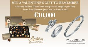 Win a luxury Butlers Chocolates hamper and Paul Sheeran jewellery worth €10,000
