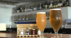 Brickyard Gastropub: Two Yards session IPA and Brickline pale lager, two of the Dundrum bar's own beers