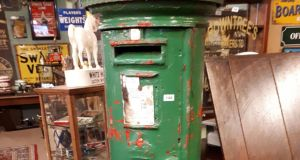 A post box was sold for €7,500 at  Cavan auction.