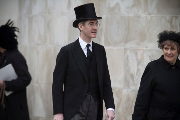 The top-hatted Rees-Mogg and Bullingdon Club Johnson,