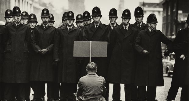 Don McCullin, Protester, Cuban Missile Crisis, Whitehall, London (1963) Credit: Don McCullin/Tate