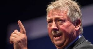 The DUP's Brexit spokesman, Sammy Wilson MP, continues to demand the backstop be scrapped, forcing the party to deny a split. Photograph: Getty Images
