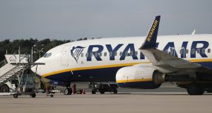 It was a good session for Ryanair, which added 4.8 per cent to €11.78 and more than bounced back from its subdued Tuesday trading. Photograph:  Friedemann Vogel/EPA