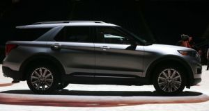 A Ford Explorer (SUV). Photograph: Jeff Kowalsky/Bloomberg