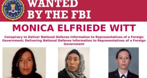 The FBI Wanted Poster for Monica Elfriede Witt (Fatemah Zahra, Narges Witt).