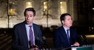 Minister for Health Simon Harris and Minister for Public Expenditure Paschal Donohoe. Photograph: Tom Honan
