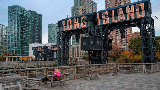 Long Island City in New York, where Amazon had intended to open a new headquarters. Photograph: Don Emmert/AFP/Getty Images