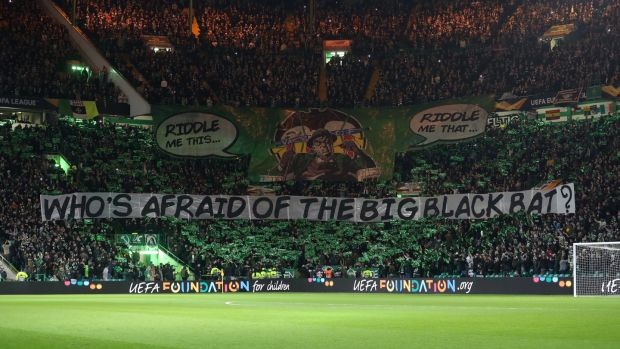 Celtic supporters ahead of their side's defeat to Valencia. Photograph: Ian MacNicol/Getty