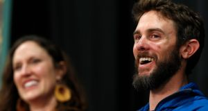 Travis Kauffman strangled a mountain lion after being attacked while he was out running.  Photograph: David Zalubowski/AP
