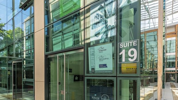A vacant first-floor office suite at The Mall in Beacon Court, Sandyford, is for sale for €210,000