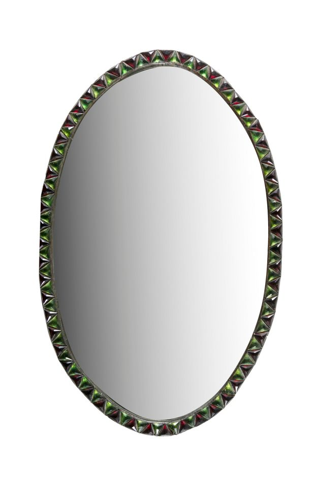 Lot 229: Early Irish 19th century oval Waterford Mirror €1,000–€1,500