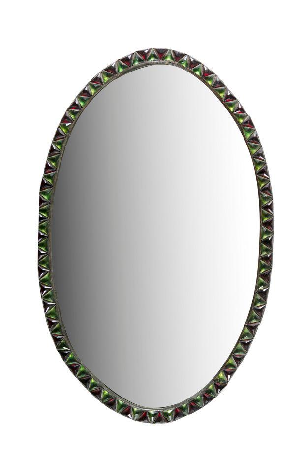 Lot 229: miroir Waterford ovale du début du XIXe siècle irlandais, de 1 000 € à 1 500 €
