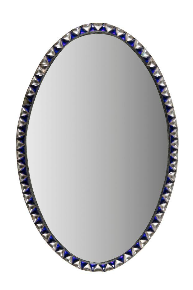 Lot 230: miroir Waterford ovale du début du 19e siècle irlandais, de 1 000 € à 1 500 €