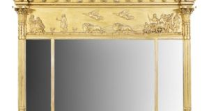 Lot 191: Giltwood compartmented overmantle €500–€800; Adam's