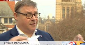 Tory MP Mark Francois lets rip during an interview with the BBC