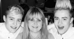 Jedward and their mother Susanna