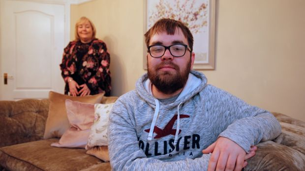 Ryan Farrell and his mother, Sandra. Ryan spent 10 days in a coma at Beaumont Hospital. Photograph: Nick Bradshaw