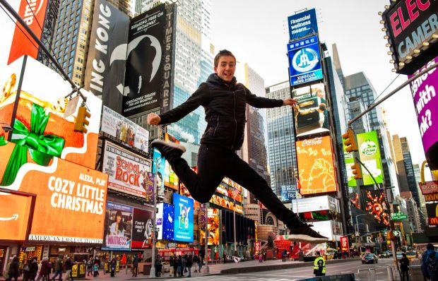 Dingle dancer David Geaney leaps for joy as his dance show opens at New YorkÕs Victory Theatre