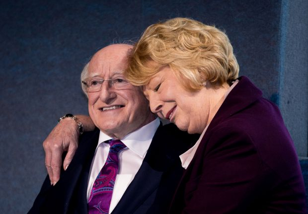 WINNING FEELINGPresident Michael D Higgins and his wife Sabina at Dublin Castle after wining the Presidential Election.