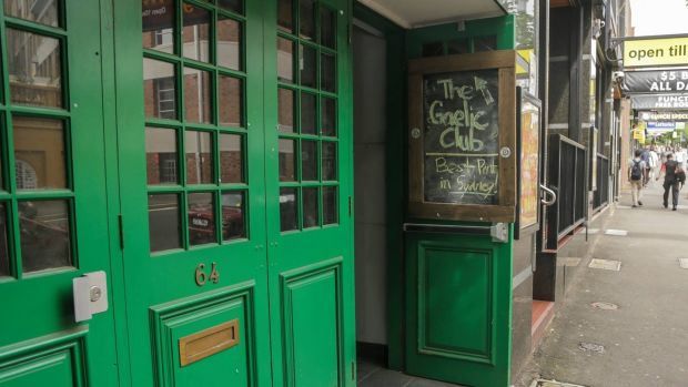 An open door for all at the Gaelic Club in Sydney.
